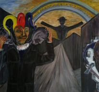 Leben, Fallen, Gesellschafts kritisch, Malerei