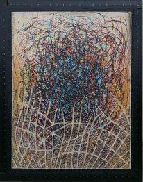 Acrylmalerei, Mischtechnik, Struktur, Abstrakt