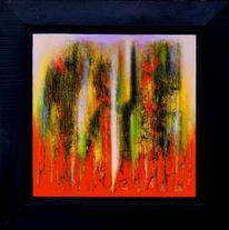 Rot, Abstrakt, Feuer, Der welten gärten