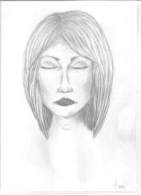 Kohlezeichnung, Kopf, Skizze, Malerei