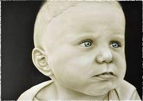 Kind, Baby, Zukunft, Airbrush