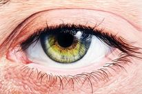 Illustration, Airbrush, Kroenigart, Augen