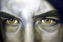 Gesicht, Airbrush, Ausdrücken, Portrait