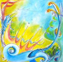 Mischtechnik, Acrylmalerei, Tusche, Pastellmalerei