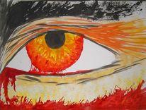 Augen, Malerei, Abstrakt, Weinen