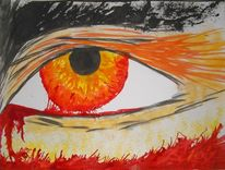 Augen, Malerei, Abstrakt, Blut