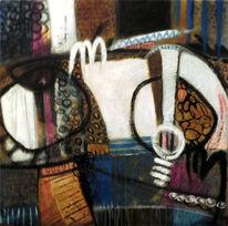 Schüler, Tuschmalerei, Malerei, Collage