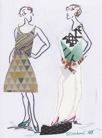 Collage, Kollektion, Zeichnung, Farben