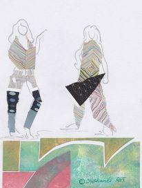 Collage, Figur, Malerei, Mode