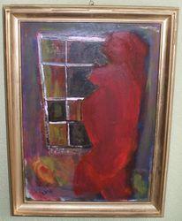 Schwangerschaft, Leben, Acrylfarbe auf holz, Malerei