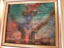 Acrylmalerei, Mischtechnik, Installation, Oma