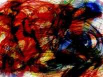 Lesen, Augen, Abstrakt, Malerei