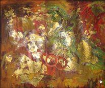 Blattgold, Malerei, Abstrakt