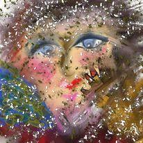 Farben, Abstrakt, Blick, Malerei