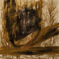 Gebrochen, Felsen, Abstrakt, Malerei