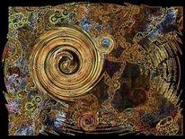 Abstrakt, Urwald, Malerei