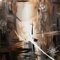 Ebene, Abstrakt, Malerei