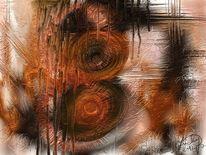 Energie, Kraft, Abstrakt, Malerei