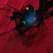 Abstrakt, Feuerspiel, Malerei
