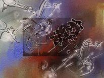 Abstrakt, Farben, Formen, Digitale malerei