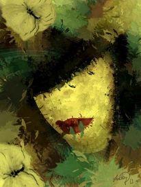 Malerei, Menschen, Frau, Gesicht