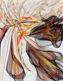 Freude, Leid, Abstrakt, Malerei