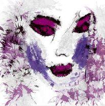 Gesicht, Abstrakt, Malerei