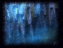 Mitternachtsgesichter, Abstrakt, Malerei
