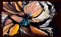 Abstrakt, Mohn, Malerei