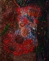 Mohn, Abstrakt, Malerei
