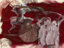 Abstrakt, Verlieben, Gedanken, Malerei