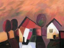 Ecke, Abstrakt, Malerei
