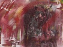Alter, Indianer, Malerei