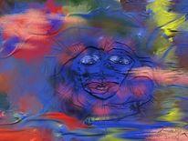 Blick, Blau, Malerei