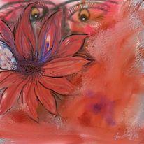 Blick, Blumen, Malerei