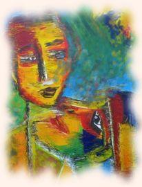Blick, Augen, Malerei