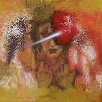Blick, Abgrund, Malerei, Digitale malerei
