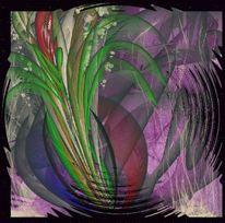 Blütenknospe, Malerei