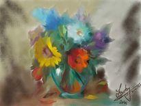 Blumengrüsse, Malerei, Blumen