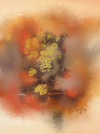 Blumengrüsse, Malerei