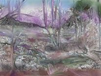 Wald, Bächlein, Malerei
