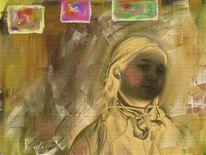 Mädchen, Malen, Malerei