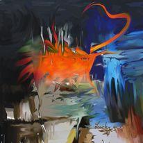 Herz, Verbrannte, Malerei