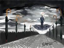 Regenschirm, Malerei