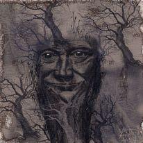 Alter, Baum, Verpflanzen, Malerei