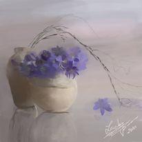 Hauch, Lila, Malerei, Blumen