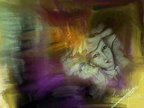 Entspannung, Frau, Malerei