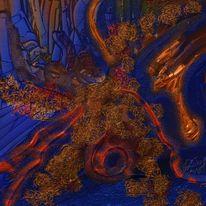 Farben, Serie, Illusion, Malerei