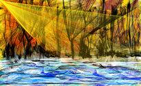 Lichtstrahlen, Farbenleben, Malerei
