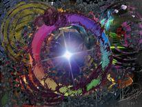 Fraktalkunst, Lichtdurchflutet, Malerei